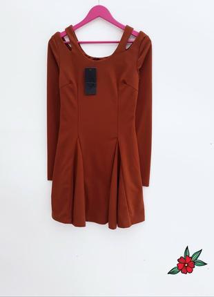 Трендовое платье с открытыми плечами модное молодежное платье новое с биркой