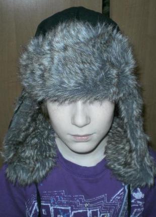 Замечательная детская меховая шапка р. 54-55 см от tu