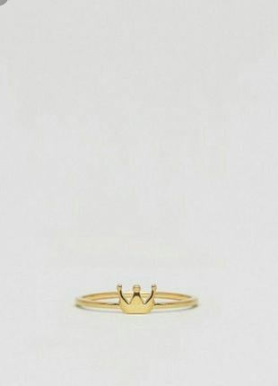 Кольцо золотое корона asos