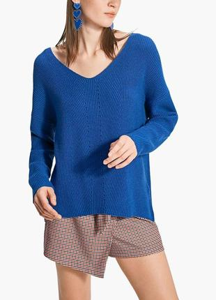 Новый синий мягкий свитер stradivarius