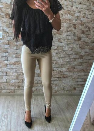 Черная элегантная кружевная блуза р 10