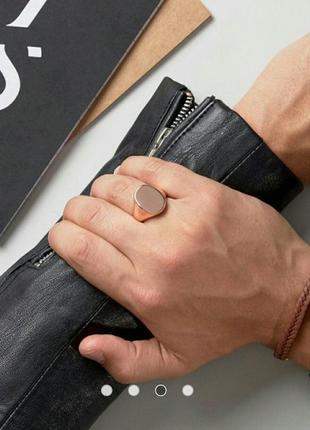 Кольцо печатка asos