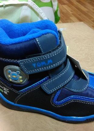 Зимние теплые ботинки 23 р. tom.m на мальчика, сапоги, сапожки, том.м, хлопчик, шерсть