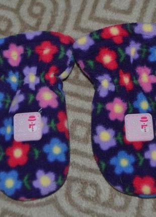 Новые варежки рукавички jojo девочке 6-12 мес рост 68-80 англия