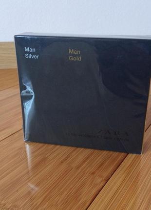 Набір набор духи парфюм туалетная вода zara man gold man silver 30 ml