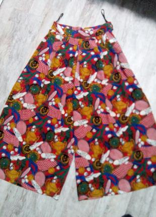 Винтажные юбка-брюки из натурального шелка