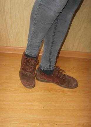Максимально комфортные ботиночки/25,5 см/размер 6 1/2 theresia m. германия.нат.кожа