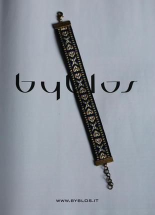 Стильный мужской браслет в орнамент
