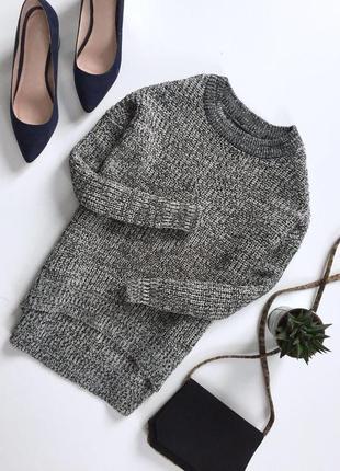 Вязаная  меланжевая кофта свитер от atm
