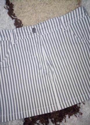 Крута джинсова юбка в полоску