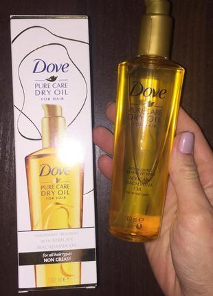 Масло для волос dove dry oil