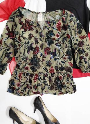 ❤️шикарная блуза с бархатным рисунком