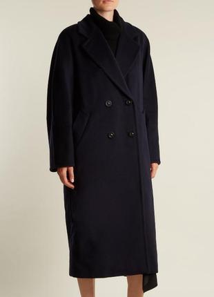 Винтажное длинное пальто кокон шерсть кашемир