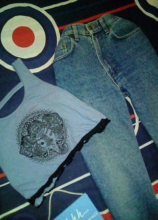 Мом джинсы/винтаж/ вычокая посадка