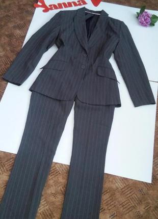 Костюм офисный деловой пиджак брюки серый новый 50 52 размер, dorothy perkins