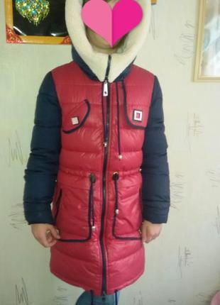 Зимняя куртка-парка для девочки 10-13 лет