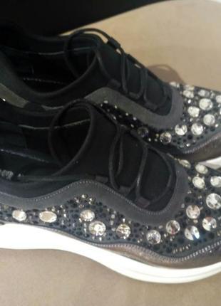 Новые брендовые кроссовки от sassofono усыпаны стразами размер 39, 40 сассофоно