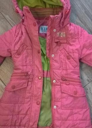 Куртка пальто демисезонная kiko р98см