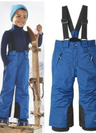 Зимний термо полукомбинезон комбинезон, лыжные штаны lupilu германия, 86-98
