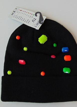 Двойная шапка с декором terranova