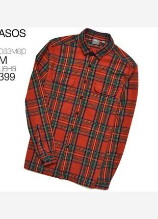 Asos m/ крутая рубашка - овершот в клетку