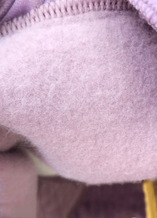 Новое детское лавандовое платье-пайта с капюшоном3 фото
