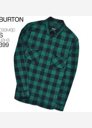 Burton s/ очень красивая рубашка-овершот в клетку
