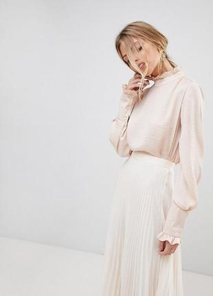 Блуза с разрезом на спине asos,р-р 14