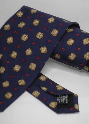Шикарный модный винтажный галстук оригинал yves saint laurent шелк италия