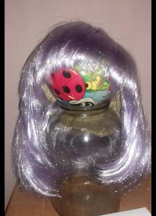 Продам парик карнавальный каре сиреневый
