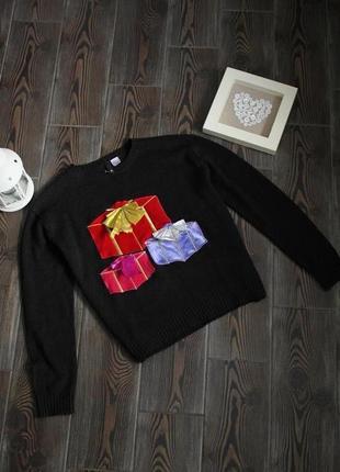 Укороченный праздничный свитер кроп топ