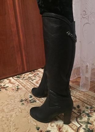 Качественные кожаные зимние сапоги