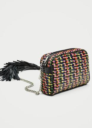 Распродажа!трендовая мини сумочка,плетенная сумка zara.