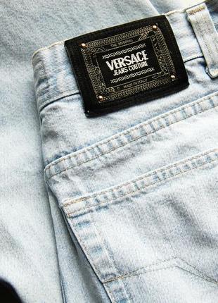 Голубые джинсы versace оригинал