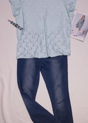 Футболка блузка кружевная мятного цвета большого размера 20 george