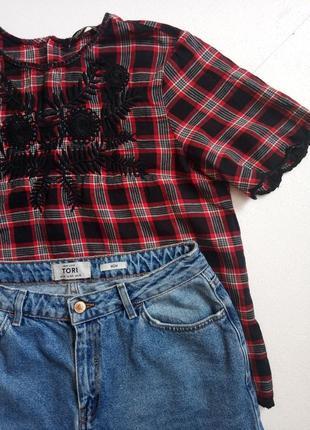 Рубашечка / блуза з вишивкою від zara