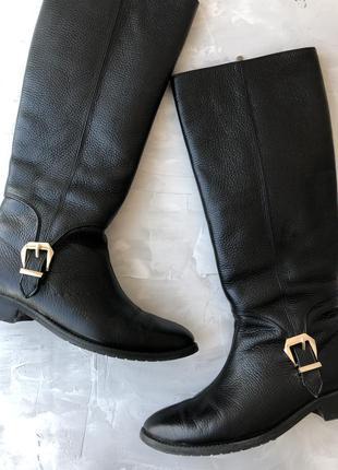 Кожаные черные сапоги goover еврозима