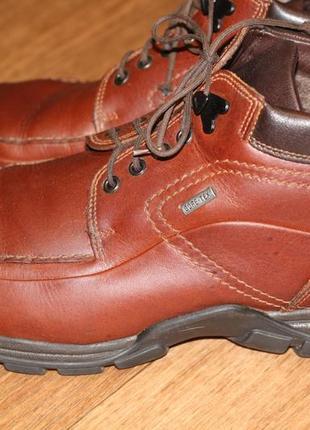 """Редкие дорогие кожаные ботинки  gore tex """"fretz men"""" швейцария! 42-43 р. внутри цигейка"""