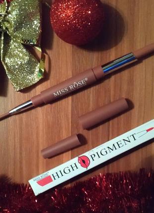 Матовая помада   карандаш miss rose high pigment
