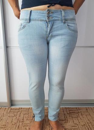 Голубые джинсы скины *