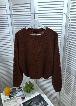 Свитер , вязаный объёмный свитер