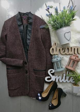 Актуальный длинный пиджак жакет блейзер пальто 29% шерсть