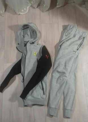 Спортивный костюм puma ferrari оригинал,штаны,толстовка,худи