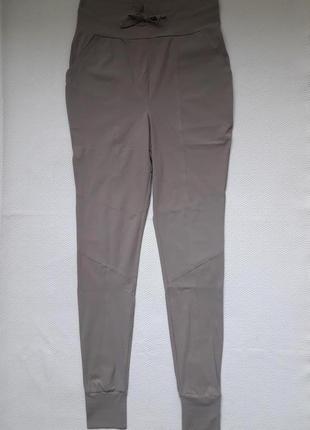 Крутые стрейчевые брюки леггинсы высокая посадка с манжетами studio anneloes
