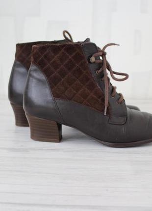 Кожаные удобные ботинки осень - весна afis shoe fashion италия