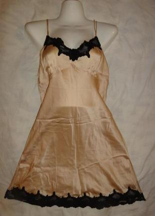 Короткая ночная сорочка рубашка la senza шелк натуральный