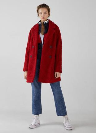Скидка на новое шерстяное пальто bershka