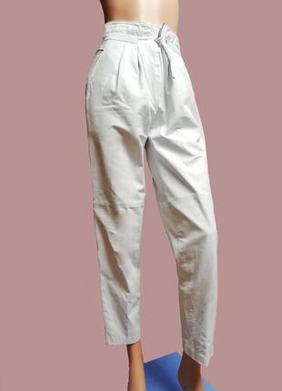 Белые   ♥ эксклюзив , кожаные штаны , натуральная кожа, высокая посадка, тренд