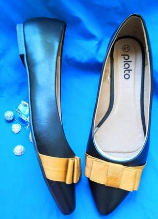 Стильные балетки туфли туфельки плато с бантом 37,38 и 39 р-ры