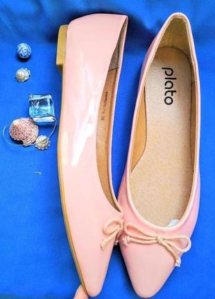 Зефирные балетки туфли туфельки босоножки балеточки плато plato 39 и 40р-ры